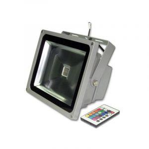 ΠΡΟΒΟΛΕΑΣ LED COB 30W ΓΚΡΙ IP65 RGB