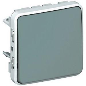 Μηχανισμός Διακόπτη Α/Ρ Γκρί IP55 Plexo