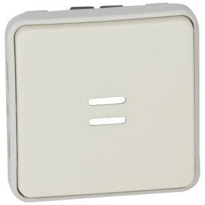 Μηχανισμός Μπουτόν Φωτεινού Λευκό IP55 Plexo