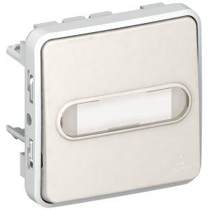Μηχανισμός Μπουτόν Επιγραφής Φωτεινού Λευκός IP55 Plexo
