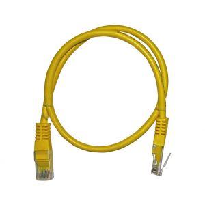 Καλώδιο Patch Cord Δικτύου 7x0.16mm  (Cat.5e) 0,5μ Κίτρινο
