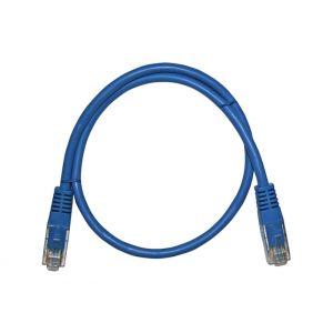 Καλώδιο Patch Cord Δικτύου 7x0.16mm UTP  (Cat.5e) 0,5μ Μπλε