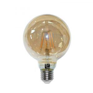 Λάμπα Led Cog Globe Φ95 Μελί Ε27 6w 230v Θερμό