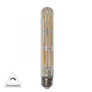 Led Cog Σωλήνας L:185mm D:30mm Διάφανη Ε27 6W 230V Ντιμαρ/μενο Θερμό