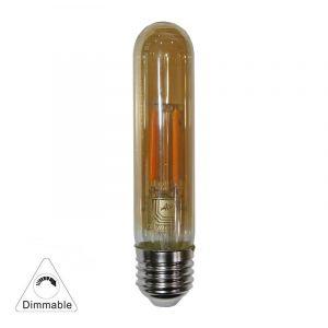 Led Cog Σωλήνας  L:125mmD:30mm Μελί  Ε27 6W 230V Ντιμ/νη Θερμό