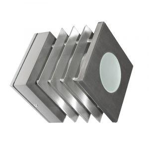 Φωτιστικό 7232 Αλουμινίου Τετράγωνο Με Γρίλια Φ110Χ110mmΕ14 Σατινέ