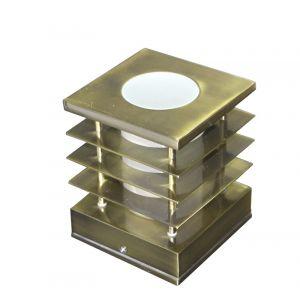 Φωτιστικό 7232 Αλουμινίου Τετράγωνο Με Γρίλια Φ110Χ110mmΕ14 Αντικέ